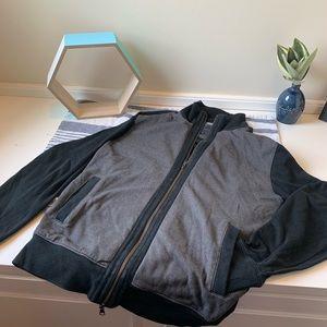Black and gray sweater zip-up Banana Republic